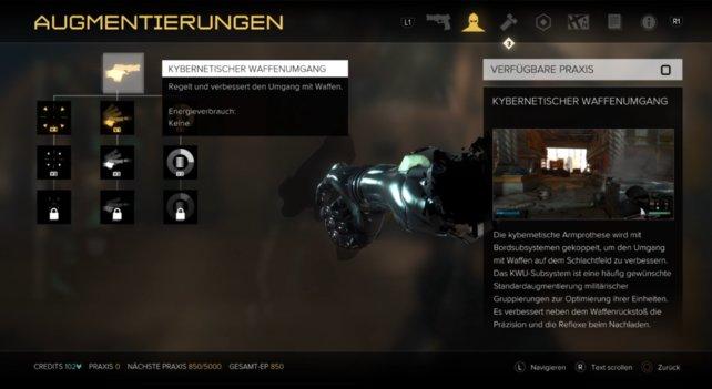 Kybernetische Waffenumgang: 3 Ausbaustufen!