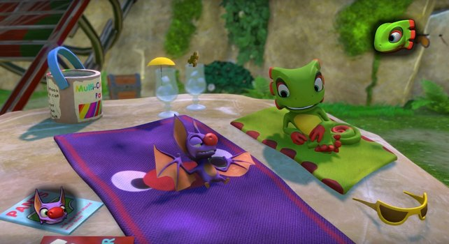 Das sind die Protagonisten des Spiels: Yooka und Laylee.