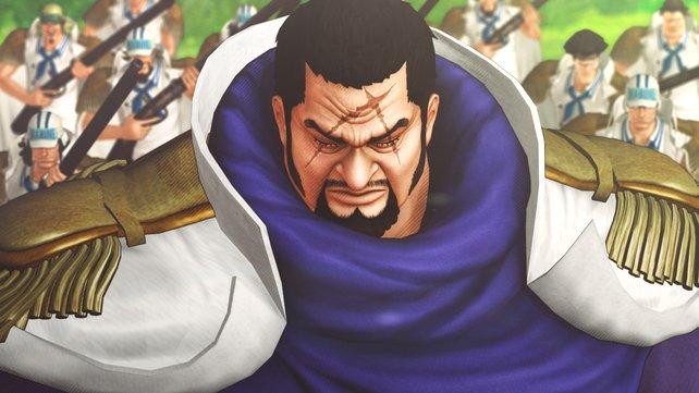 Admiral Fujitora ist einer der neuen Figuren in One Piece - Pirate Warriors 3.