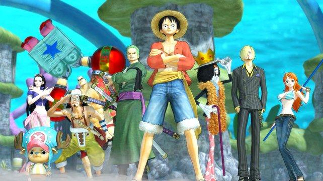 """Gruppenbild der """"One Piece""""-Helden."""