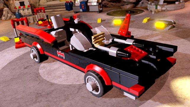 Im Bonuslevel sollt ihr das Batmobil der 1966er zusammenbauen.