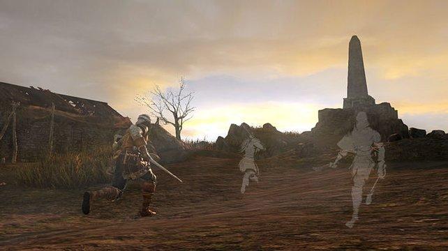 Wie im ersten Teil, seht ihr andere Spieler als weiße Schatten.