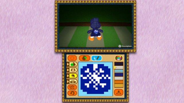 Schöne Idee: Auf dem 3DS könnt ihr eigene Muster für Yoshi entwerfen.