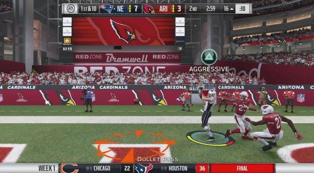 Stört den Catch und verhindert den Touchdown!