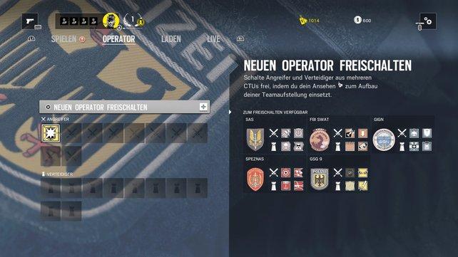 Wählt Spezialeinheiten aus 5 Ländern aus, es stehen euch 4 Operatoren pro Nation zur Verfügung