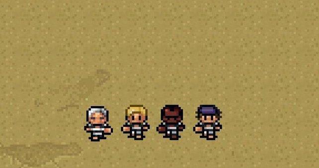 Diese vier Kerle erkennt man auch in einer Pixel-Version sofort.