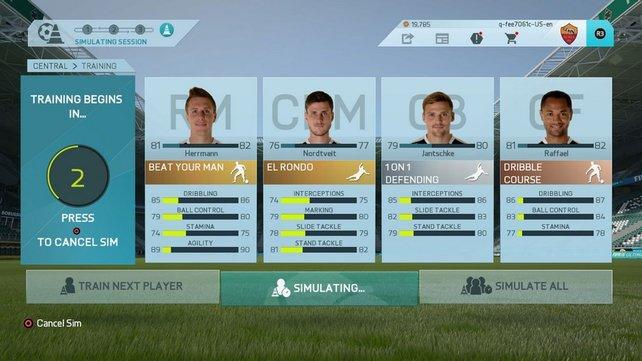 Der neue Trainingsmodus in FIFA 16 (Bildquelle: EA Sports)