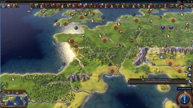 Hier seht ihr den europäischen Teil der Weltkarte