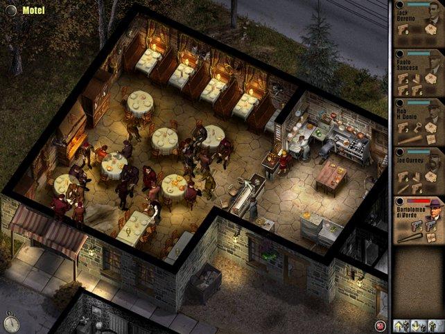 Ein zwielichtiges Restaurant darf in einem Mafia-Spiel natürlich nicht fehlen.