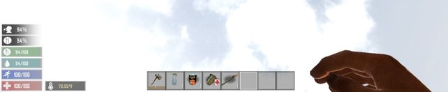 So sieht euer HUD in 7 Days to Die nach der Installation der Mod aus.