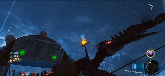 Das leuchtende Objekt am Himmel ist nicht zu übersehen.