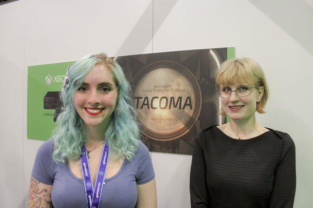 Die Level-Gestalterin Nina Freem und Mitbegründerin von Fullbright Studios Karla Zimonja erklären spieletipps das mystische Tacoma.