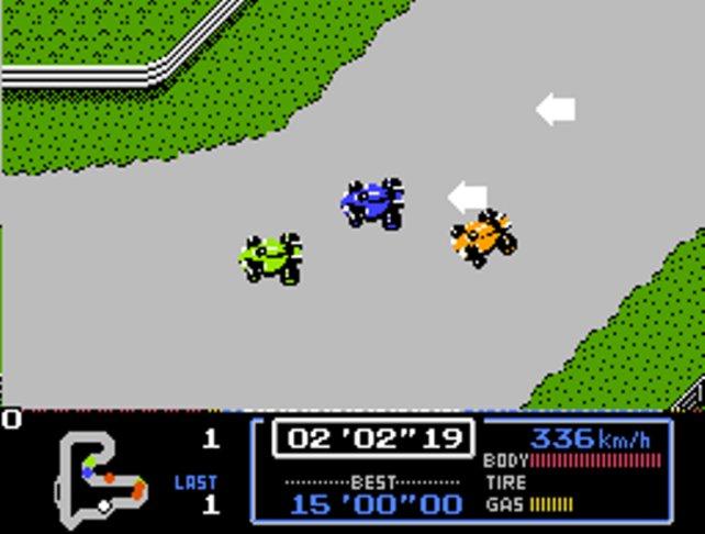 Mario darf in seinem allerersten Rennspiel von 1987 aus 24 Formel-1-Wagen wählen.