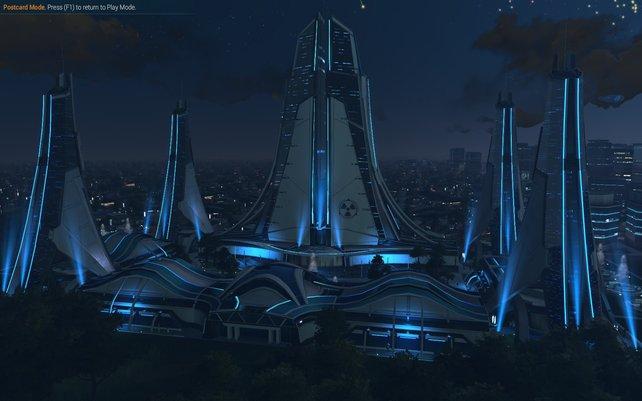 Gegen Ende des Spiels dürft ihr ein sündhaft teures Hauptquartier bauen. Beeindruckend, wenn auch beinahe nutzlos.