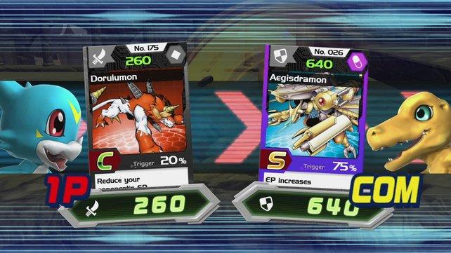 Wann diese Karten im Kampf eingsetzt werden, entscheidet das Spiel spontan - und sehr selten.
