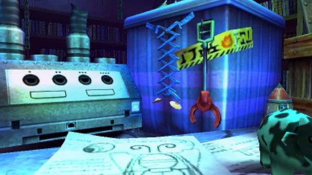 Im Bombenladen ist klar ein Gamecube zu erkennen, aber erkennt ihr auch das blaue Nintendo-Produkt in der Bildschirmmitte?