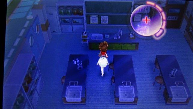 In diesem Raum wird Bär gefangen gehalten, untersucht das Skelett