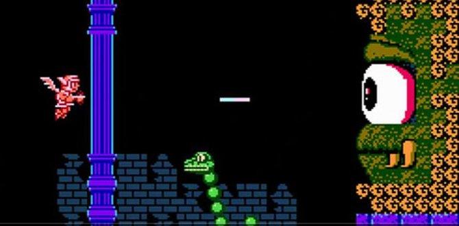 Auf dem NES zeigt sich Medusa in ihrer Monster-Form (sie ist der Zyklop).