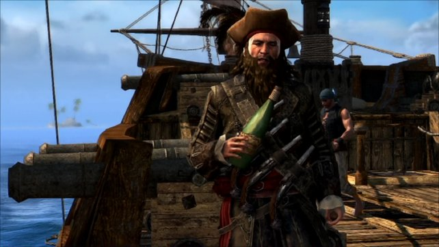 Der berühmte Pirat Blackbeard in Assassin's Creed 4 - Black Flag.