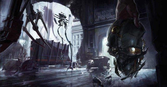 Dieses Bild wählt Bethesda als Hintergrund für das neue Titelbild der Dishonored - Definitive Edition für PS4 und Xbox One.