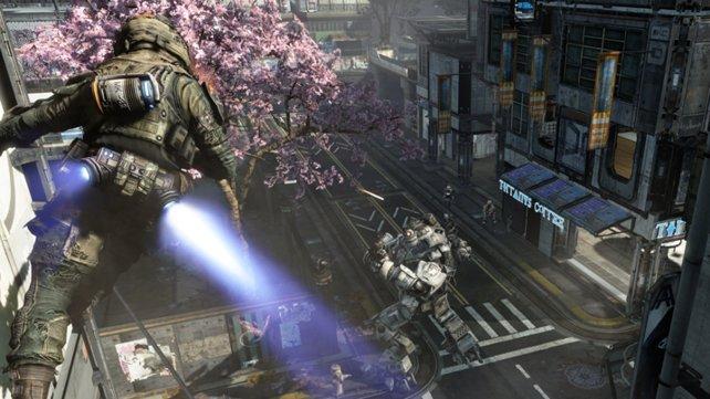 In Titanfall dreht sich alles um Online-Schlachten.