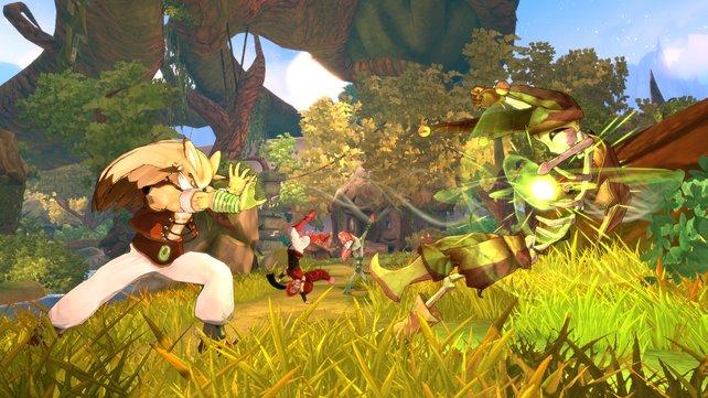 Hadouken! Die Kämpfe erinnern ein Street Fighter und Co. Im Kern bleibt das hier jedoch ein Rollenspiel.