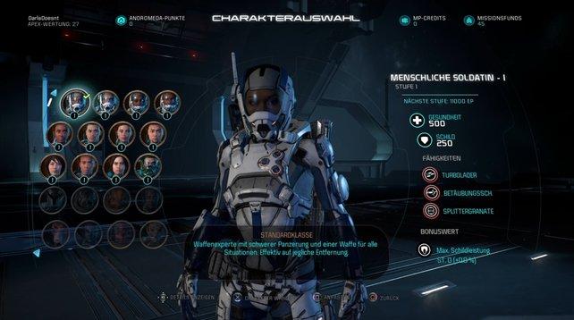 Im Multiplayer von Mass Effect - Andromeda seid ihr nicht an einen Charakter gebunden.