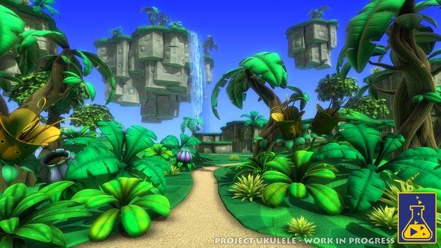 """Hier seht ihr einen ersten """"Screenshot"""" aus der Spielwelt von Project Ukulele."""