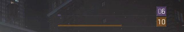 Die lilane Ziffer zeigt euch den Dark-Zone-Rang, die orangene das Spieler-Level.