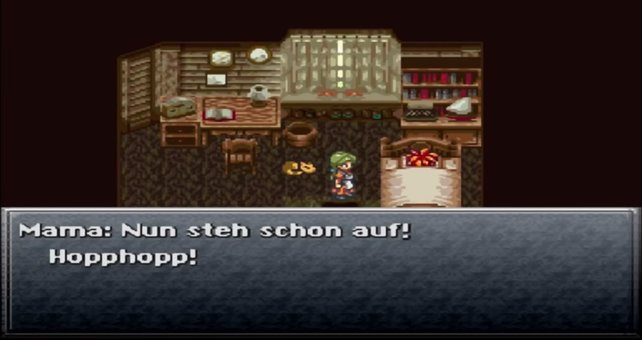 Chrono Trigger: Der Klassiker in Form der obligatorischen Aufwachszene.