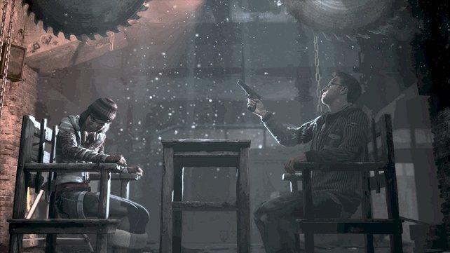 Für diese Szene standen wohl die SAW-Filme Pate.