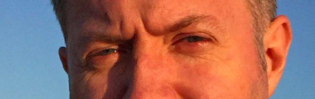 Ein Blick in die Augen von Spiel-Entwickler Ingo Mesche.