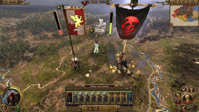 Jede Fraktion im Hauptspiel hat zwei legendäre Helden, die nicht draufgehen können. Rekrutierte Helden können wie sie Heere führen, aber auch sterben.