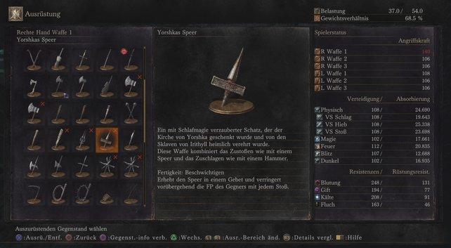 Der Beschreibung entnehmt ihr die neuen Waffenkünste bzw. Fertigkeiten eures Werkzeuges.