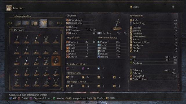Das Claymore zählt zu Beginn zu den stärksten Waffen in Dark Souls 3.