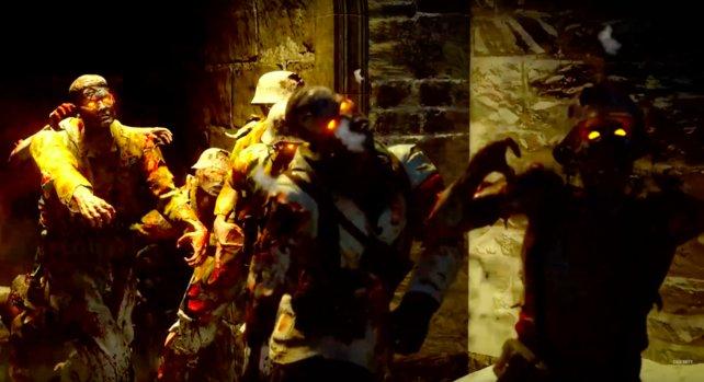 Zombie-Parade in der deutschen Burg.