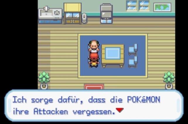 Beim Attackenverlerner könne Pokémon VMs vergessen, falls ihr sie nicht mehr benötigt.