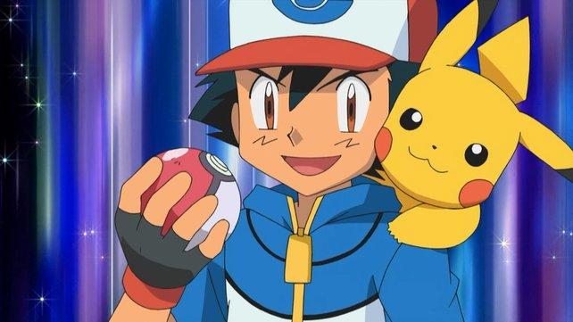 Ash und sein Pikachu.