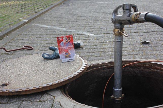 Selbst in seiner Freizeit treibt sich Mario in der Kanalisation herum.