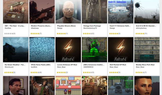 Ab Morgen endlich für Xbox-Besitzer verfügbar: Zahlreiche Modifikationen für Fallout 4.