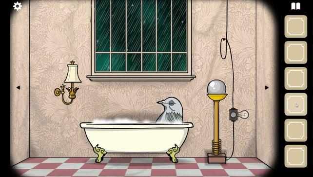 Ms. Pigeon hätte gerne einen vollen Kornteller.