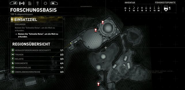 Karte: Forschungsbasis.
