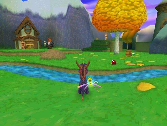 Spyro 3 ist genauso bunt wie seine Vorgänger.