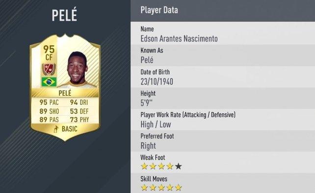 Die größte Legende des Sports: Pelé gibt es im Ultimate Team nur auf der Xbox One.