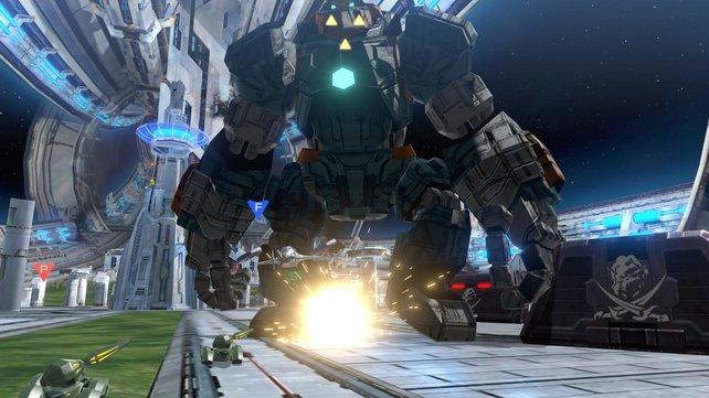 Das ist aber ein großer Roboter ...