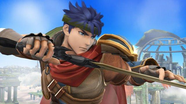 Markenzeichen Riesenschwert und roter Umhang: Ike teilt schwere Schläge aus.