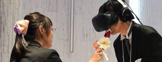Hochzeit mit Virtual Reality: Beim Küssen wird es kompliziert