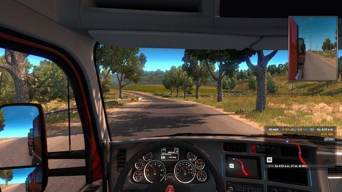 Beim American Truck Simulator fahrt ihr Schwerlasten quer durch Kalifornien und Nevada.