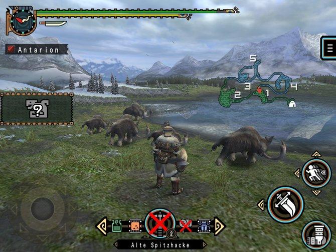 Capcom setzt Monster Hunter Freedom Unite endlich originalgetreu von der PSP auf iOS-Geräte um.