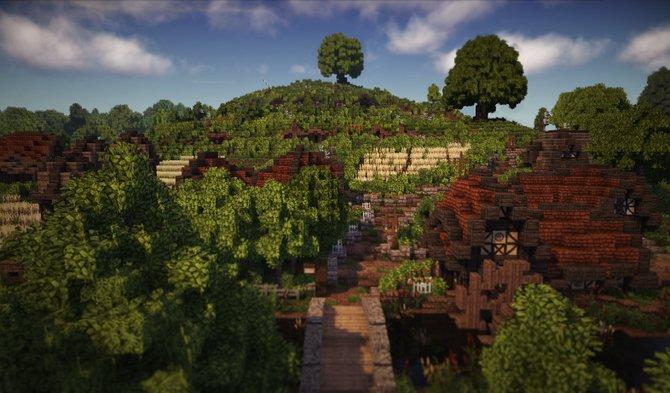 Hobbingen gehörte zu den Hauptprojekten der 25 Minecraft-Architekten.